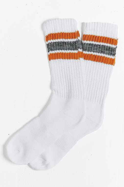 Striped Gym Sock,YELLOW,ONE SIZE
