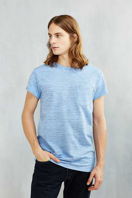 Feathers Rolled Cap Sleeve Tee