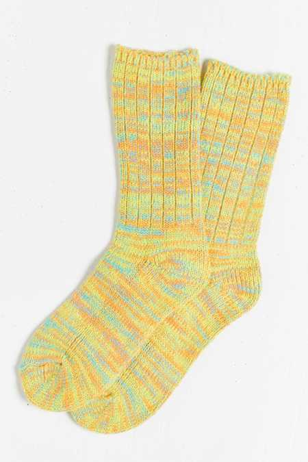 O'Hanlon Mills Chunky Knit Twisted Marled Boot Sock