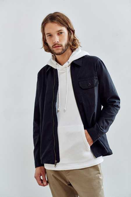 All-Son Zip Front Overshirt