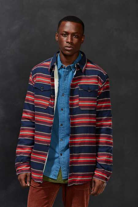 Burton Cole Sherpa Lined Flannel Jacket