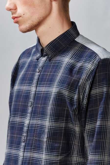 ZANEROBE Wire Plaid Button-Down Shirt