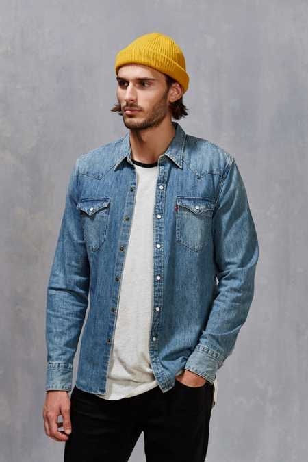 Levi's Denim Western Button-Down Shirt