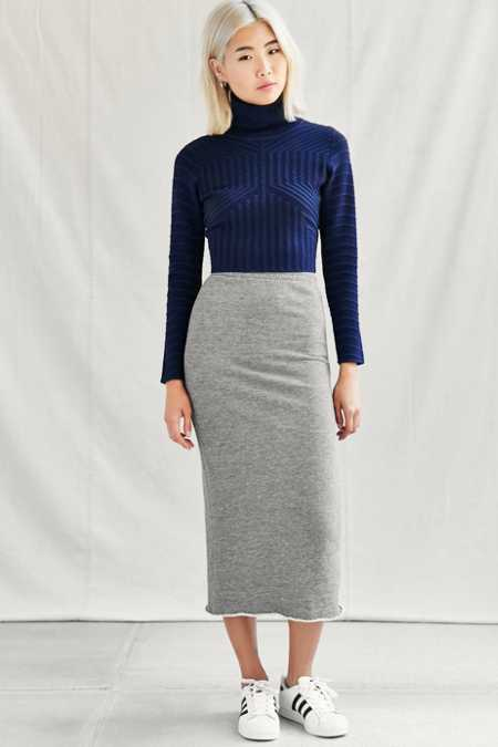 Urban Renewal Remade Fleece Midi Skirt