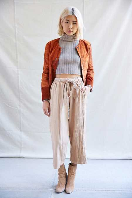Urban Renewal Remade Tie Front Textured Pant