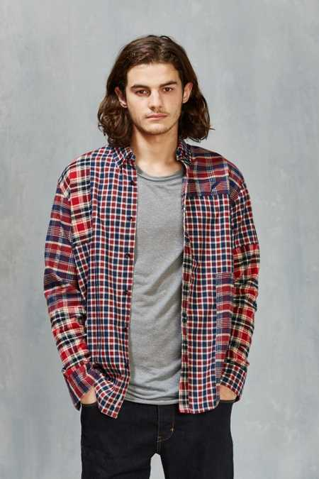 Publish Vernal Patchwork Plaid Button-Down Shirt