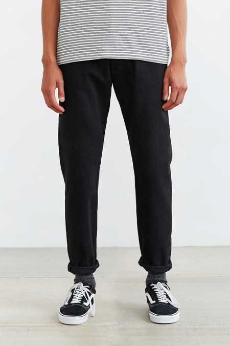 Levi's 501 Custom Tapered Black Rinse Jean