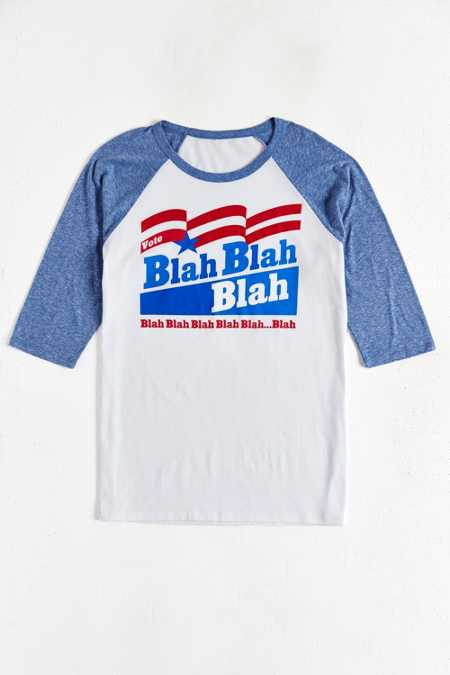 Vote Blah Blah Raglan Tee