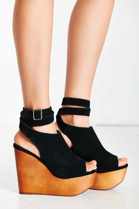 Jeffrey Campbell Ankle Wrap Wood Wedge
