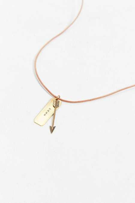 Thea Grant Leather Cord Arrow Necklace