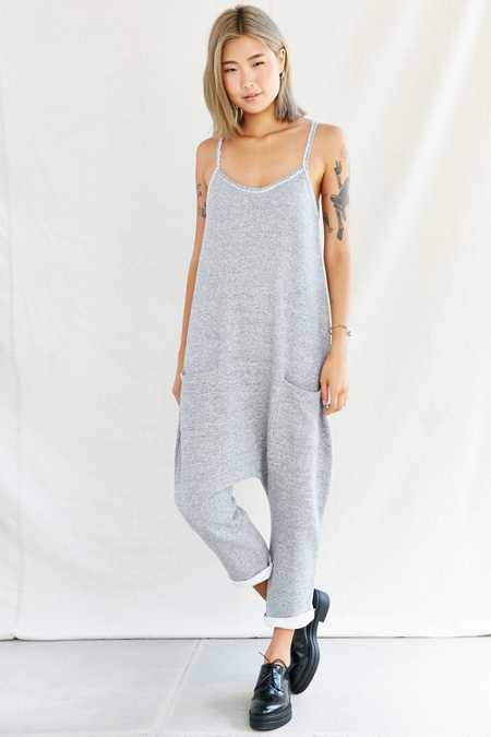 Urban Renewal Recycled Dropped Sweatshirt Jumpsuit