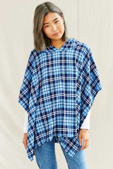 Urban Renewal Recycled Flannel Square Poncho