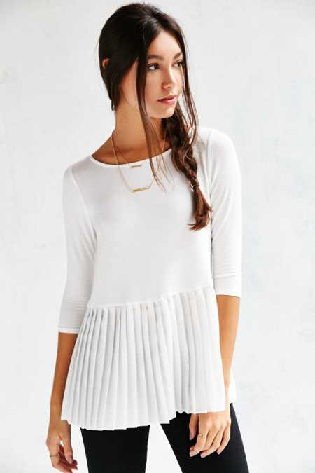 Cooperative Heather Peplum Top