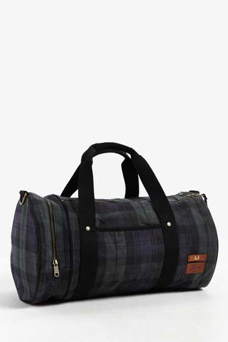 Fred Perry British Millerain Barrel Bag
