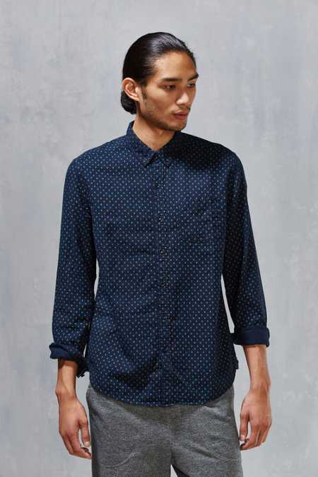 CPO Printed Diamond Dot Button-Down Shirt