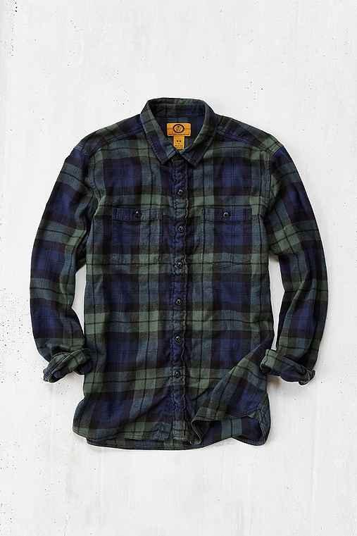 Stapleford black watch plaid flannel shirt urban outfitters for Black watch plaid flannel shirt