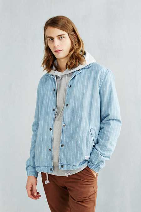 CPO Striped Denim Coach Jacket