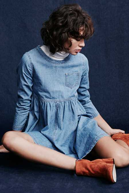 BDG Blue Jean Babydoll Dress