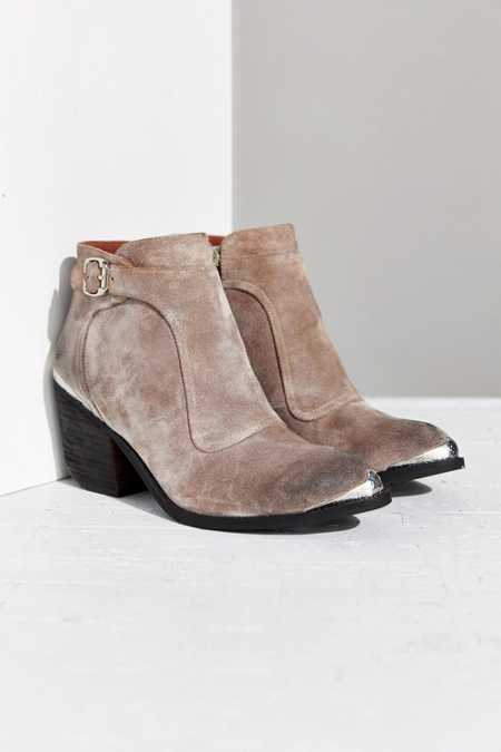 Jeffrey Campbell Maverick Moto Suede Ankle Boot