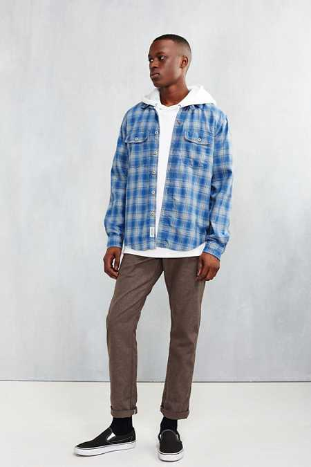 CPO Herringbone Plaid Button-Down Shirt