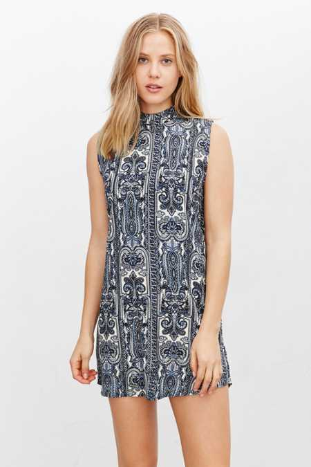 Motel Holly Mock-Neck Dress