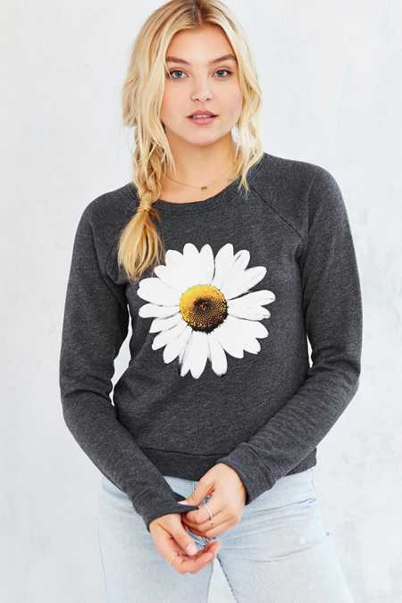 Truly Madly Deeply Daisy Shrunken Sweatshirt