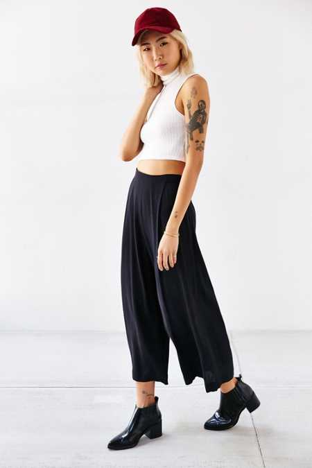 Silence + Noise Soft Pleated Culotte Pant