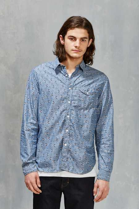CPO Ditsy Floral Chambray Button-Down Shirt