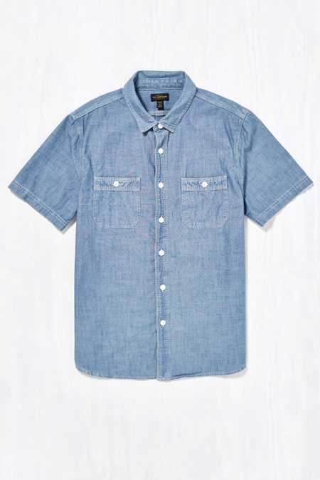 CPO Short-Sleeve Cross Hatch Chambray Shirt