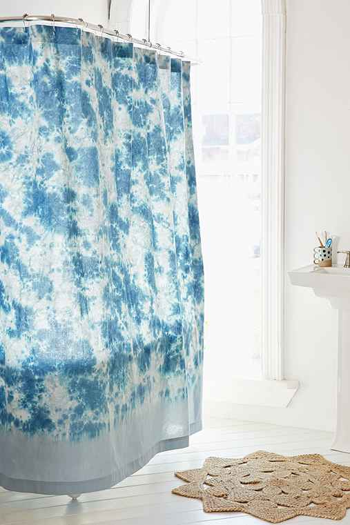 Hazy Tie-Dye Shower Curtain - Urban Outfitters