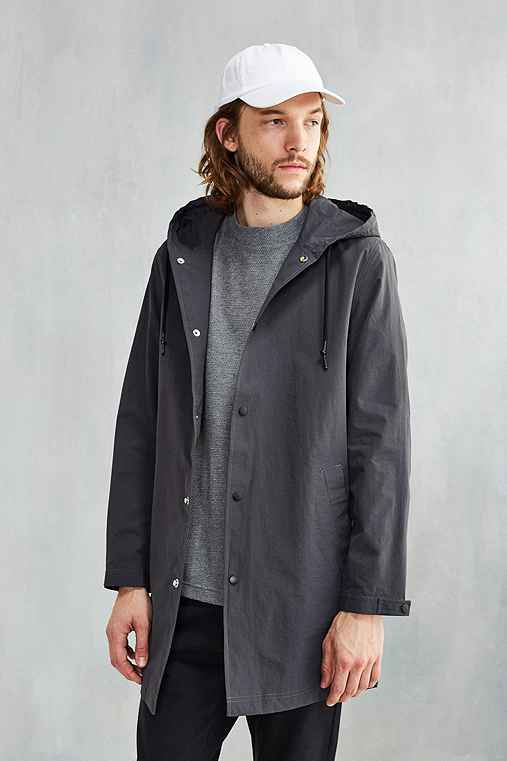 CPO Hooded Long Parka Jacket,GREY,M