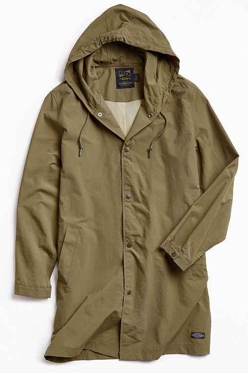 CPO Hooded Long Parka Jacket,OLIVE,XL