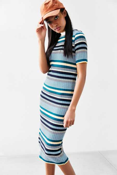 BDG Multi-Stripe Sweaterknit Dress