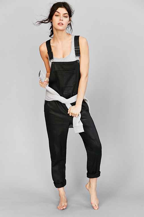 Calvin Klein For UO Waxed Overall,BLACK,L