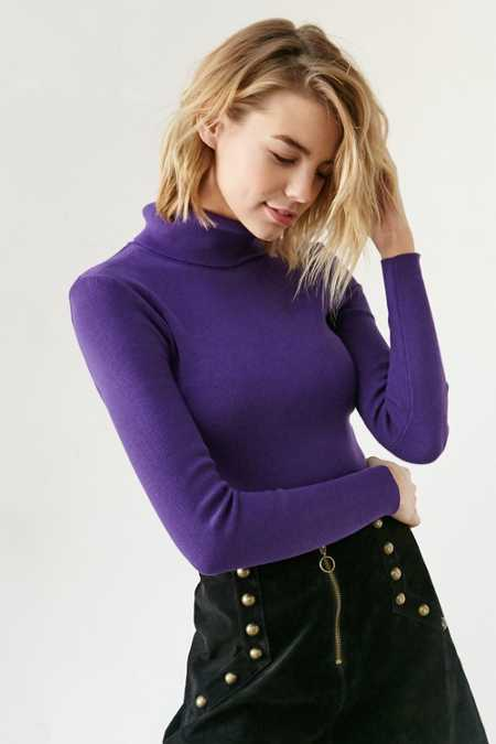 Lucca Couture Fitted Turtleneck Ski Sweater