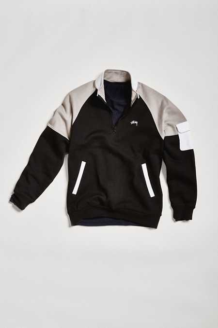 Stussy Half-Zip Funnel Neck Sweatshirt