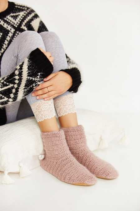 Crochet Slipper Sock