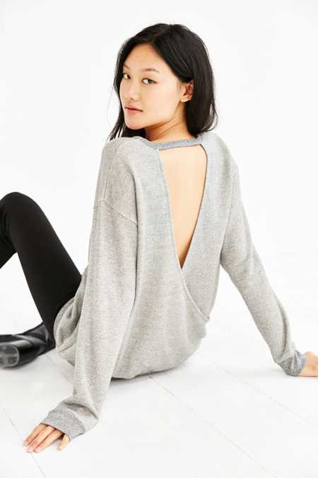 Silence + Noise Surplice Back Sweatshirt