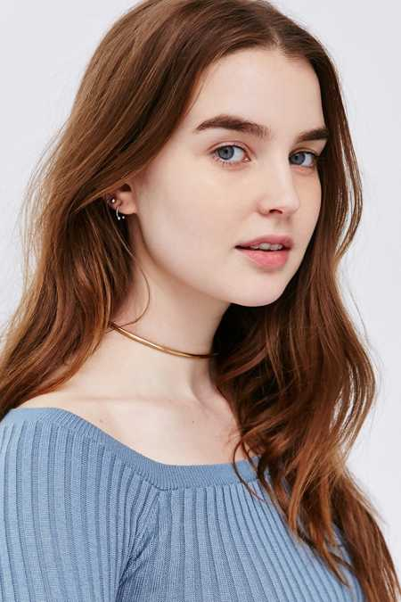 Day And Night Thin Choker Necklace