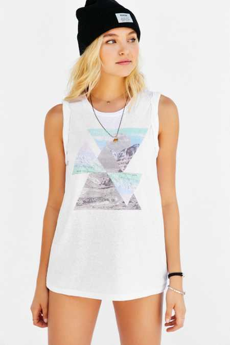 Truly Madly Deeply Desert Triangles Muscle Tee