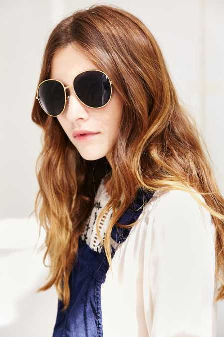 Super Model Oversized Round Sunglasses