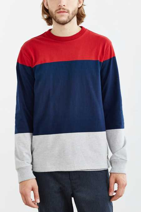 OBEY Staten Blocked Long-Sleeve Tee