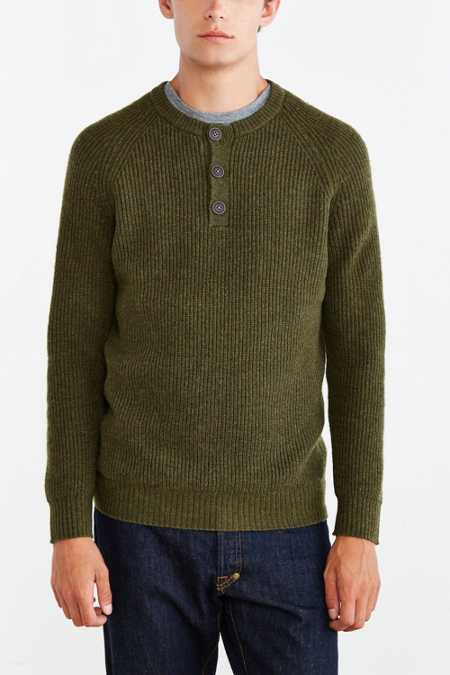 CPO Ribbed Henley Sweater