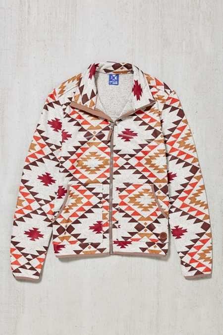 Without Walls Melange Printed Zip-Up Jacket