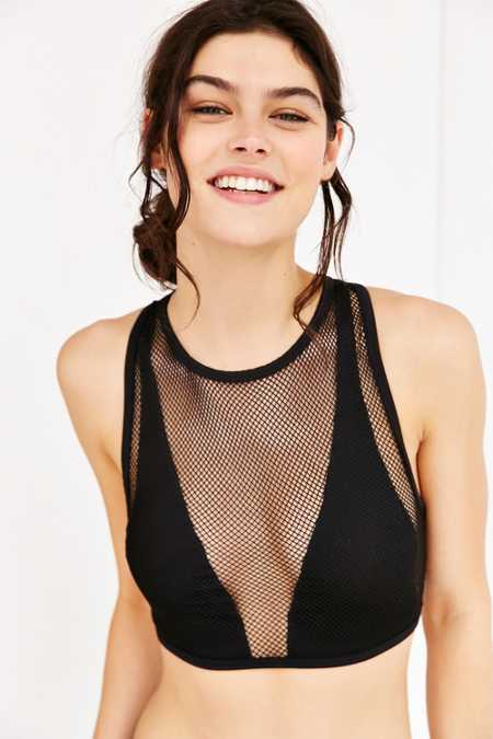 Out From Under Wide Net Mesh Bra Top