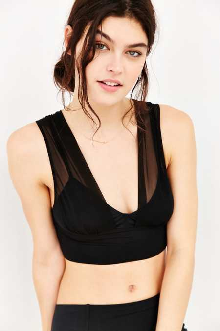 Out From Under Double Layer Mesh Longline Bra