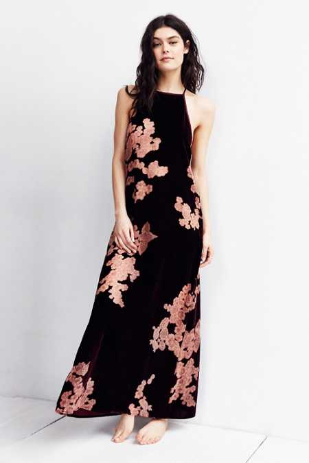Out From Under Boudoir Velvet Maxi Slip