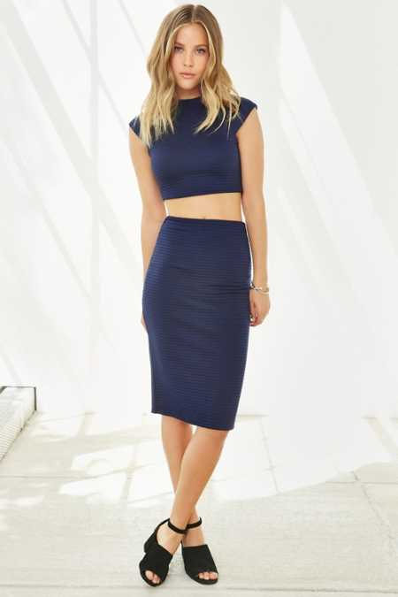 Silence + Noise Revolt Set Midi Skirt