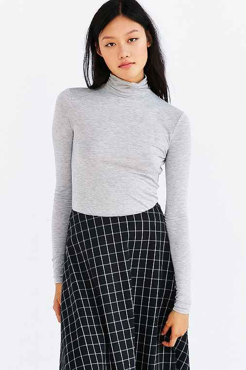 Silence + Noise Dawn Turtleneck Top,GREY,S