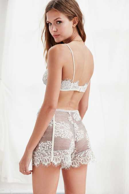Out From Under Erica Velvet Lace Short